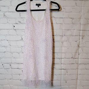 Topshop White Sequin Dress